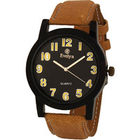 Evelyn wrist watch for men in black dial-EVE-350