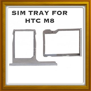 New Sim Card Slot Tray Holder - Replacement Part For Htc M8 - silver