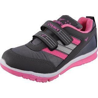 Orbit Womens Grey Pink Velcro Sports Shoe