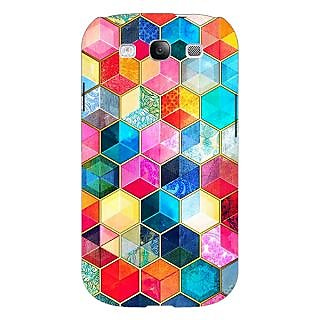Absinthe Coloured Hexagons Pattern Back Cover Case For Samsung Galaxy S3
