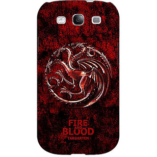 Absinthe Game Of Thrones GOT House Targaryen  Back Cover Case For Samsung Galaxy S3