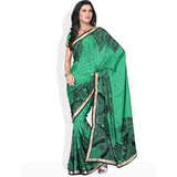 Compare MANVI Ditsy Dot Printed Saree at Compare Hatke
