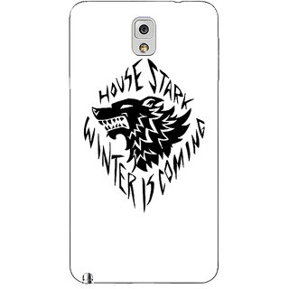 Absinthe Game Of Thrones GOT House Stark  Back Cover Case For Samsung Galaxy Note 3 N9000