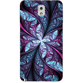 Absinthe Abstract Flower Pattern Back Cover Case For Samsung Galaxy Note 3 N9000