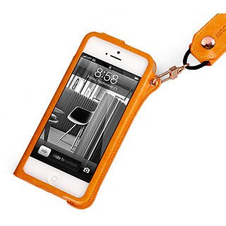 Callmate case Cover for iPhone 5/5S with Free Screen Guard - Orange