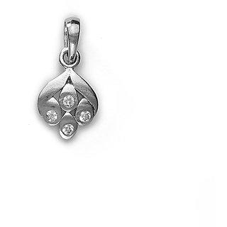 Sterling Silver  CZ Fancy Pendant By Taraash