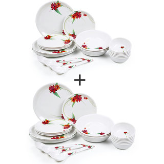 Czar Combo pack of 24 PIC Dinner set-RED 1011