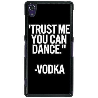 Absinthe Vodka Dance Quote Back Cover Case For Sony Xperia Z1