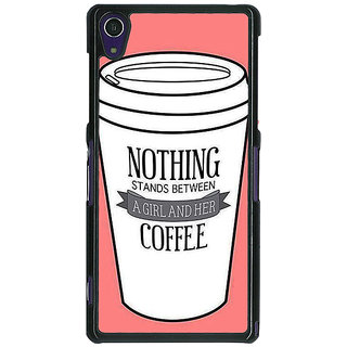 Absinthe Coffee Quote Back Cover Case For Sony Xperia Z1