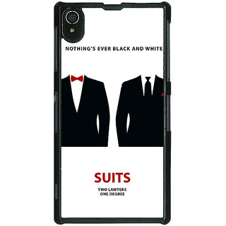 Absinthe SUITS Harvey Spector Mike Ross Back Cover Case For Sony Xperia Z2