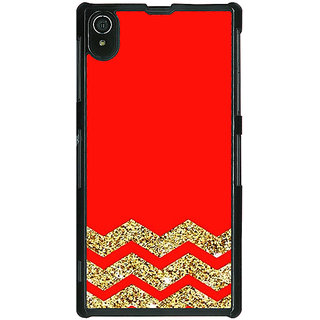 Absinthe Orange Faux Glitter Back Cover Case For Sony Xperia Z2