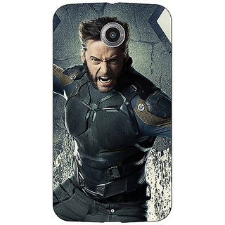 Absinthe Wolverine Hugh Jackman Back Cover Case For Google Nexus 6