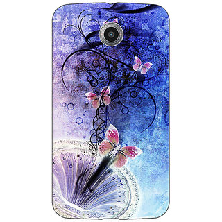 Absinthe Abstract Butter Fly Pattern Back Cover Case For Google Nexus 6
