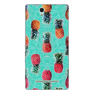 Absinthe Pineapple Pattern Back Cover Case For Sony Xperia C3
