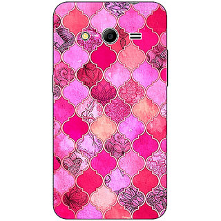 Absinthe Pink Moroccan Tiles Pattern Back Cover Case For Samsung Core 2