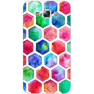 Absinthe Colour Hexagons Pattern Back Cover Case For Samsung Galaxy A3