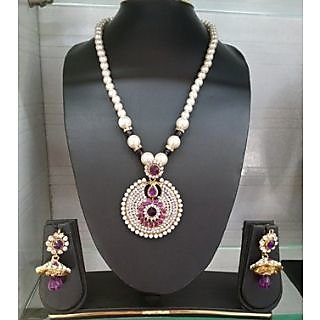 Shalini High Gold Plated Neckless Set