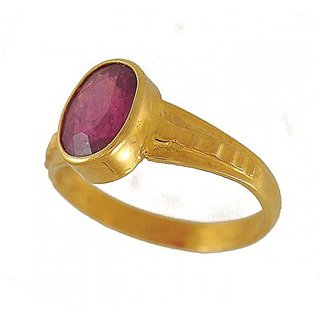 7.25 Ratti Natural Certified Ruby Panchdhatu Ring
