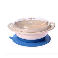 Anti-Spill Table Sucking Bowl with Lid - Prevents the Baby from Spilling Food