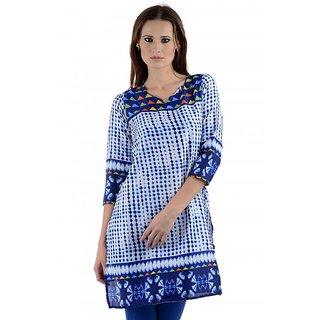 Kiosha Crepe 3/4 Sleeve multi color Kurti for women