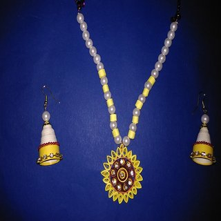 Quilling Earring and Chain Set