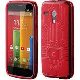 Motorola Moto G Cruzerlite Bugdroid Circuit Case for Motorola Moto G - Red
