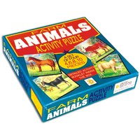 Farm Animal Activity Puzzles-A Set Of 4 Puzzles