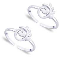 Sterling Silver Spiral Toe Ring By Taraash