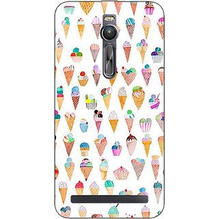 Absinthe Ice cream Doodle Back Cover Case For Asus Zenfone 2
