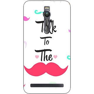 Absinthe Moustache Quote Back Cover Case For Asus Zenfone 2 ZE550 ML