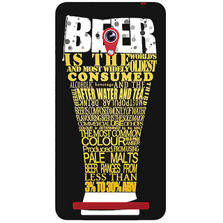 Absinthe Beer Quote Back Cover Case For Asus Zenfone 6 600CG