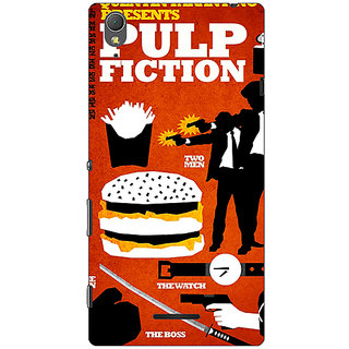 Absinthe Pulp Fiction Back Cover Case For Sony Xperia T3
