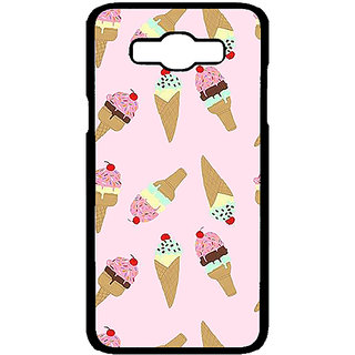 Absinthe Ice Cream Doodle Back Cover Case For Samsung Galaxy J7