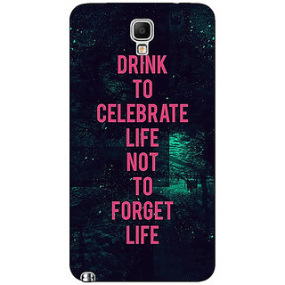 Absinthe Drinking Quote Back Cover Case For Samsung Note 3 Neo