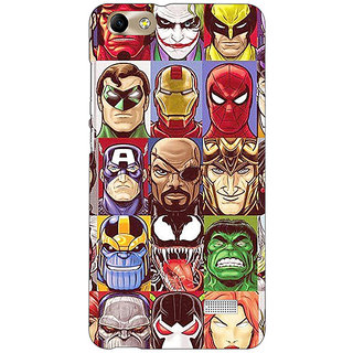 Absinthe Super Heroes and Villains Back Cover Case For Huawei Honor 4C