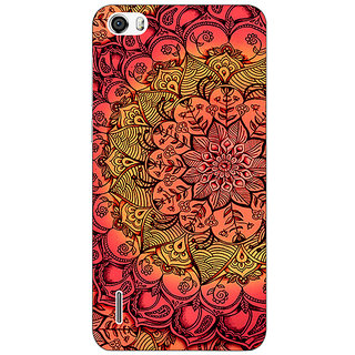 Absinthe Red DayDream Pattern Back Cover Case For Huawei Honor 6