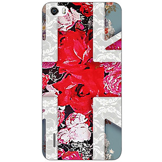 Absinthe Floral Back Cover Case For Huawei Honor 6