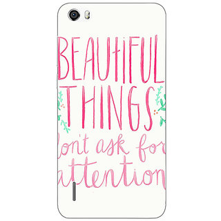 Absinthe Beautiful Quote Back Cover Case For Huawei Honor 6