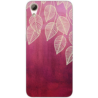 Absinthe Golden Leaves Pattern Back Cover Case For HTC Desire 626