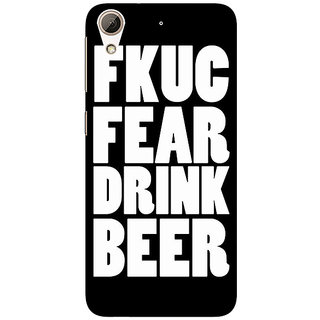 Absinthe Beer Quote Back Cover Case For HTC Desire 728G Dual Sim
