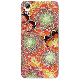 Absinthe Butterflies Pattern Back Cover Case For HTC Desire 728 Dual Sim