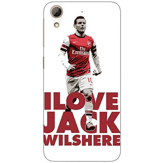 Absinthe Arsenal Jack Wilshere Back Cover Case For HTC Desire 728 Dual Sim