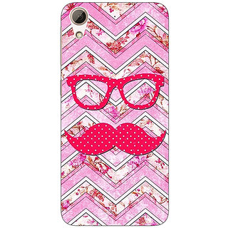 Absinthe Mustache Back Cover Case For HTC Desire 728G Dual Sim
