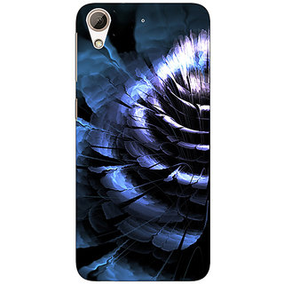 Absinthe Abstract Flower Pattern Back Cover Case For HTC Desire 728G Dual Sim