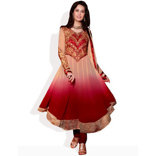 AARYA Ombre Dyed Anarkali Ready To Stitch Suit