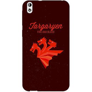 Absinthe Game Of Thrones GOT House Targaryen  Back Cover Case For HTC Desire 816G