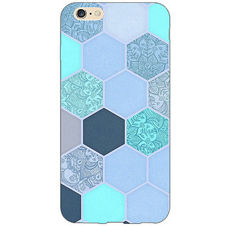 Absinthe Llight Blue Hexagons Pattern Back Cover Case For Apple iPhone 6S
