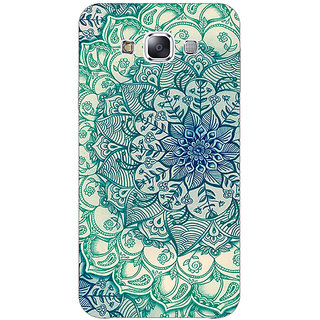 Absinthe Emerald Doodle Pattern Back Cover Case For Samsung Galaxy J5