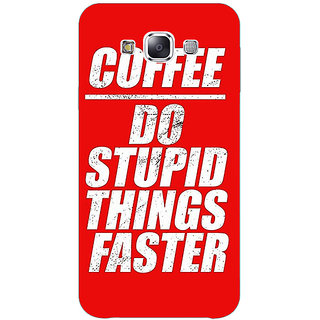 Absinthe Coffee Quote Back Cover Case For Samsung Galaxy J3