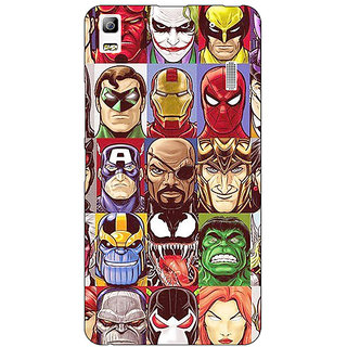 Absinthe Super Heroes and Villains Back Cover Case For Lenovo K3 Note
